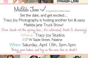 Matilda Jane Truck Show… at the studio on April 13th!