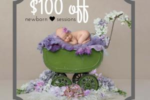 $100 off Newborn Sessions – Illinois' Premier Newborn Photographer